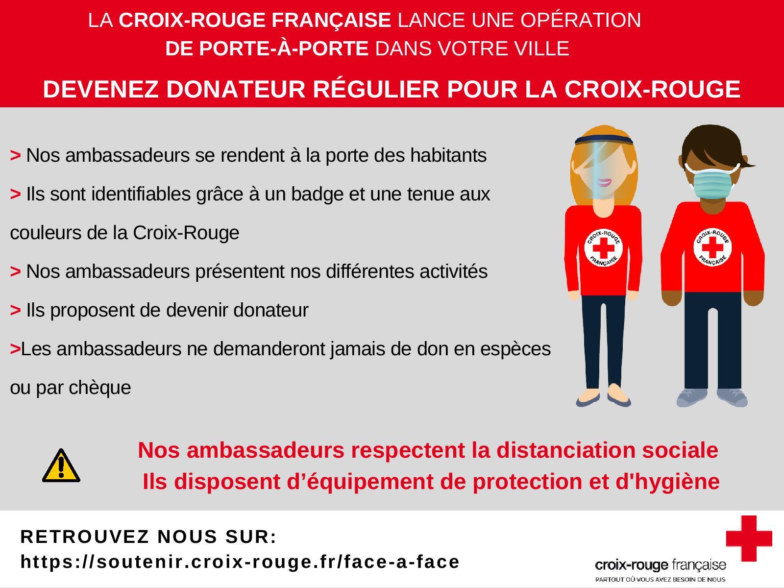 Campagne porte à porte de la Croix Rouge